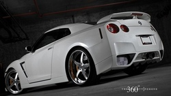 360 three sixty forged, белый, white, gt-r, nissan, ниссан