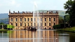 девоншир, чатсворт, англия, chatsworth house, утки, замок, england, фонтан, дворец, поместье ...