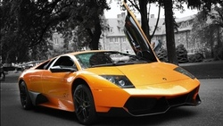 auto, lamborghini murcielago, sv, orange, lp670-4, cars