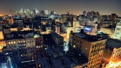 noho on down, nyc, нью-йорк, roof, usa, night, огни, ночь, lower manhattan, new york city ...