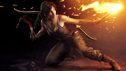 lara croft, tomb raider, тьма, пещера, факел, лара крофт, девушка
