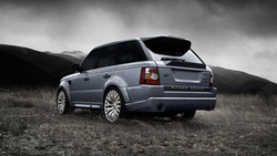 range rover, auto wallpapers, облака, kahn, cars, landscape, авто обои, clouds, машины, cosworth 300 sport, трава ...
