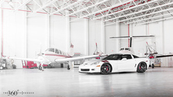 корвет, white, chevrolet, z06, шевроле, corvette, 360 three sixty forged, ангар, передняя часть ...