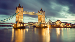 ночь, лондон, london, tower bridge, uk, night, england, thames river, англия ...