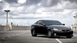 sf system forged, is 350, небо, black, чёрный, облака, парковка, передняя часть, лексус, lexus ...