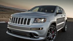 srt8, jeep, grand cherokee, передняя часть, гранд чероке, джип, серебристый