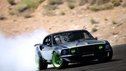 машина, авто обои, cars, car, форд, дым, тачки, мустанг, ford, rtr-x, black, mustang, скорость, drift ...