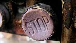 macro, button, stop, red