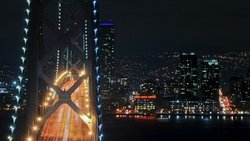 огни, bridge, california, мост, ночь, калифорния, san francisco, night