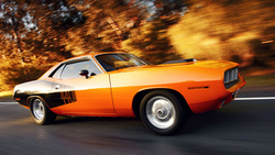 в движении, plymouth cuda, muscle car, плимут