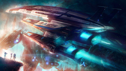 rpg, normandy sr-2, mass effect, art
