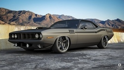 мускул кар, горы, плимут, muscle car, plymouth, barracuda, front, матовый