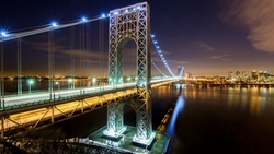 nyc, new york city, manhattan, george washington bridge, usa, hudson river, new jersey ...
