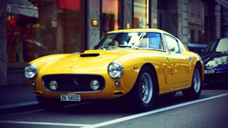 авто, ferrari, Ferrari Dino, retro, yellow