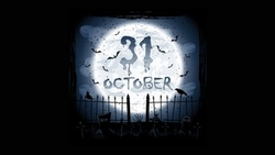 scary, october, creepy, full moon, holiday halloween , horror, graveyard, crows ...