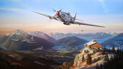 nicolas trudgian, mustangs over the eagles nest, north american p-51 mustang ...