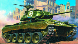 m24 чаффи, танк, m24 chaffee, light tank, танк, легкий, танк, арт