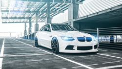 bmw, парковка, блики, white, e92, front, m3, coupe