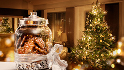 merry christmas, sweets, lights, decoration, ornament, new year, christmas tree, interior ...