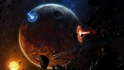 meteorites, fire, sci fi, astroides, spaceships, planet