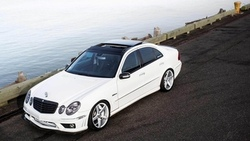 tuning, wallpapers, vossen, car, benz, beautiful, white, e class, автомобиль, mercedes ...