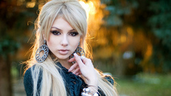 ekaterina fetisova, blonde, sexy girl, model, russian girl, earrings, rostov-on-don, long hair, view, look, skinny, delicious, sexy, perfect girl ...