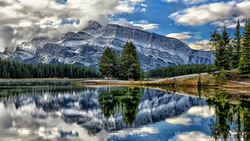 vermillion lakes, canada, banff national park, mount rundle, озёра вермилион, alberta ...