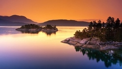 rock formation, lake, photography, water, nature, landscape, tree, sunset, rock, island ...