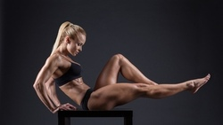 fitness, body, builder, blonde, pose