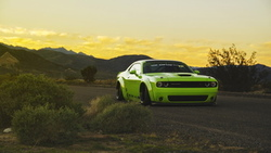 green, тюнинг, odge hallenger, tuning, muscle car, low, liberty walk