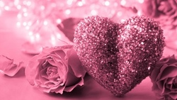 heart, alentines ay, pink, gift, розы, сердце, romantic, love, roses