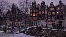 мстердам, et it snow in the msterdam, снег
