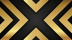 gold, background, arrow, shapes, black, линии, metallic, perforated, metal