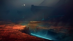 paceship, artwork, futuristic, science fiction, illustration, digital art, fantasy art, city, lights, sci fi, ravine, night, future, gorge, fantasy ...