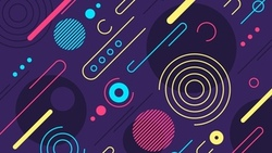 абстракция, текстура, colorful, bstract, background, rounded, shapes