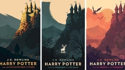 harry, potter, book, covers, illustration, olly