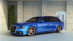 audi, rs4, car, blue