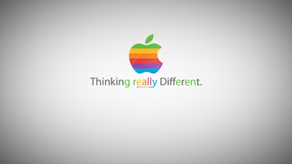 thinking really different, Apple, greener apple