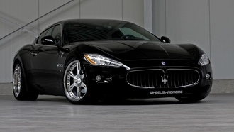 Maserati, black cars, auto walls, мазерати, авто обои, масерати