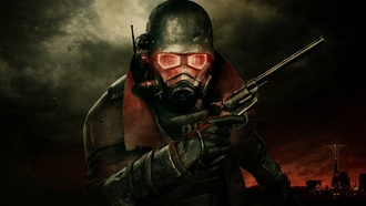 new vegas, магнум, маска, Fallout3, радиация