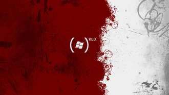 Windows logo, red, узоры