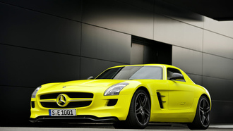 Mercedes benz, sls e-celle, 1920x1200, auto wallpapers, cars, авто обои