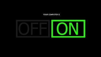 on, off, , computer