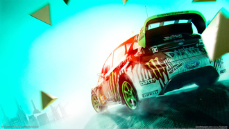 ford, форд, dirt3, ford fiesta, monster team, monster, dirt, фиеста
