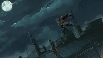 ночи, аниме, assassin creed