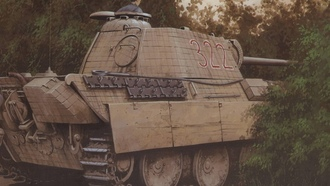 ww2, military art, panther