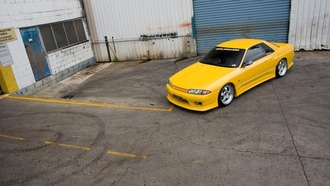 Nissan, skyline, r32, yellow