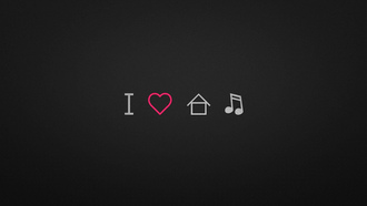 I, house, love, music