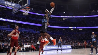 слен данк, прыжок, basketball, баскетбол, james, Nba all star 2012