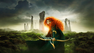 Brave, scotland, pixar, princess, disney, the movie, red hair, film, merida